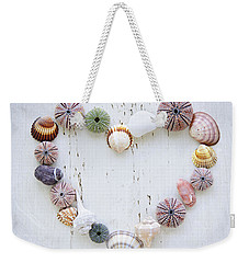 Heart Of Seashells And Rocks Weekender Tote Bag