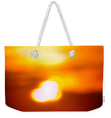 Heart Of The Day Weekender Tote Bag by Robyn King