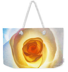 Heart Of The Rose Weekender Tote Bag by Peggy Hughes