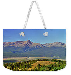 Heart Of The Sawatch Panoramic Weekender Tote Bag by Jeremy Rhoades