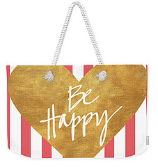 Heart On Stripes Iv Weekender Tote Bag
