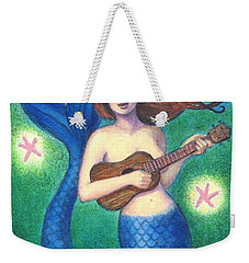 Weekender Tote Bag featuring the painting Heart Tail Mermaid by Sue Halstenberg