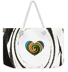 Weekender Tote Bag featuring the digital art Heart Within by Catherine Lott