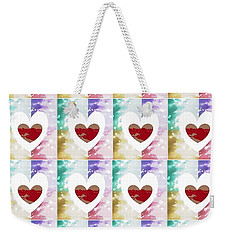 Weekender Tote Bag featuring the digital art Heartful 2 by Ann Calvo