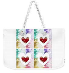 Weekender Tote Bag featuring the digital art Heartful by Ann Calvo
