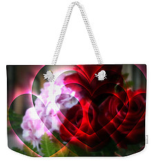 Hearts A Fire Weekender Tote Bag