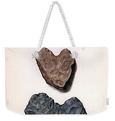 Weekender Tote Bag featuring the painting Hearts Rock by Janice Dunbar