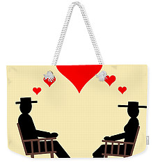 Hearts Rock Weekender Tote Bag by Kent Lorentzen