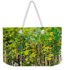 Weekender Tote Bag featuring the painting Heat Of Summer by Tatiana Iliina