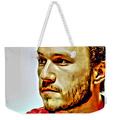 Heath Ledger Portrait Weekender Tote Bag by Florian Rodarte
