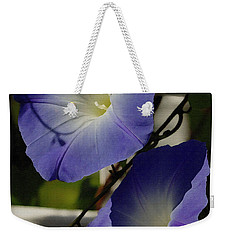 Heavenly Blue Morning Glory Weekender Tote Bag
