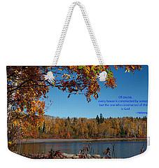 Hebrews 3 4 Weekender Tote Bag by James Peterson