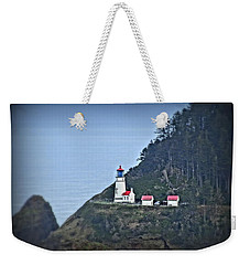 Heceta Head Light House Weekender Tote Bag by Nick Kloepping
