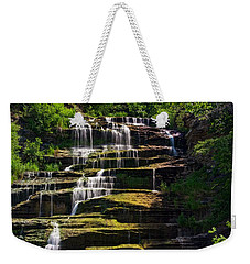 Weekender Tote Bag featuring the photograph Hector Falls by Dave Files