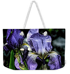 Heirloom Purple Iris Blooms Weekender Tote Bag