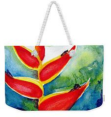 Heliconia - Abstract Painting Weekender Tote Bag by Carlin Blahnik