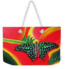 Weekender Tote Bag featuring the painting Solomans Kiss by Debbie Chamberlin