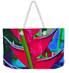 Heliconia Abstract Weekender Tote Bag