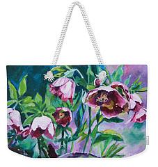 Hellebore Flowers Weekender Tote Bag