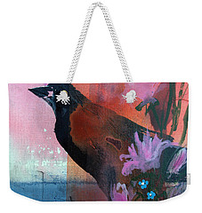 Hello Crow Weekender Tote Bag