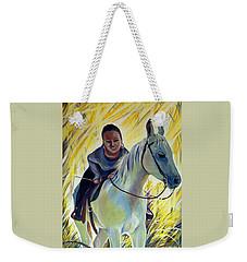 Hello World Weekender Tote Bag by Anna  Duyunova