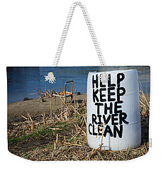 Help Keep The River Clean Weekender Tote Bag