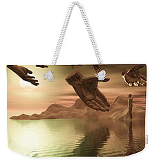 Helping Hands Weekender Tote Bag by John Alexander