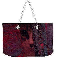 Weekender Tote Bag featuring the photograph Helping In The Art Studio by Jacqueline McReynolds