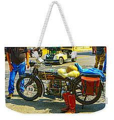 Henderson At Cannonball Motorcycle Weekender Tote Bag