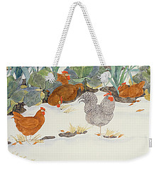 Hens In The Vegetable Patch Weekender Tote Bag