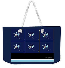 Weekender Tote Bag featuring the digital art Her 1st Flowers 2 by Ann Calvo