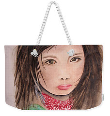 Her Expression Says It All Weekender Tote Bag