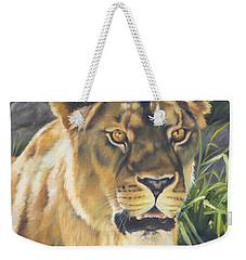 Her - Lioness Weekender Tote Bag by Lori Brackett