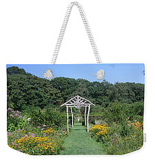 Weekender Tote Bag featuring the photograph Herb Garden by Karen Silvestri