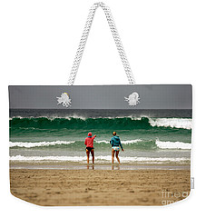 Weekender Tote Bag featuring the photograph Here Comes The Big One by Terri Waters