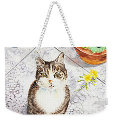 Here Kitty Kitty Kitty Weekender Tote Bag