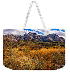 Weekender Tote Bag featuring the photograph Here To There by Mark Myhaver