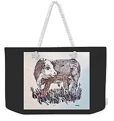 Polled Hereford Bull  Weekender Tote Bag