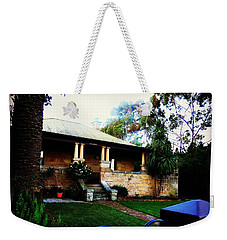 Weekender Tote Bag featuring the photograph Heritage Sandstone House In Sydney Australia by Leanne Seymour
