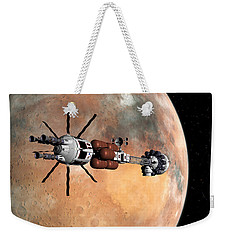 Weekender Tote Bag featuring the digital art Hermes1 Mars Insertion Part 1 by David Robinson