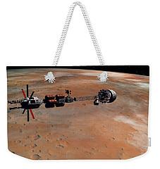 Hermes1 Orbiting Mars Weekender Tote Bag