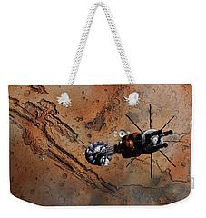 Hermes1 With The Mars Lander Ares1 In Sight Weekender Tote Bag