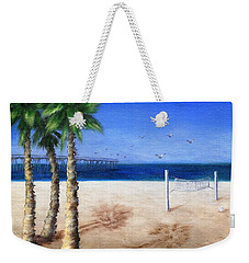 Hermosa Beach Pier Weekender Tote Bag by Jamie Frier