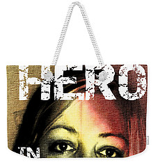 Weekender Tote Bag featuring the photograph Hero In Part Two by Sir Josef - Social Critic - ART