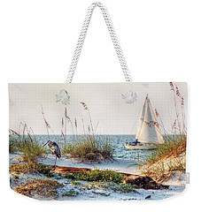 Heron And Sailboat Weekender Tote Bag