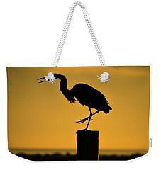 Heron At Sunrise Weekender Tote Bag by Leticia Latocki