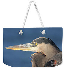 Weekender Tote Bag featuring the photograph Heron Close-up by Christiane Schulze Art And Photography