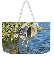Heron Dance Weekender Tote Bag by Karen Silvestri