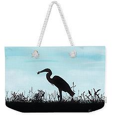 Heron Has Supper Weekender Tote Bag