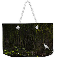 Heron In Grass Weekender Tote Bag